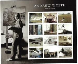 US SCOTT 5212 PANE OF 12 ANDREW WYETH STAMPS FOREVER MNH