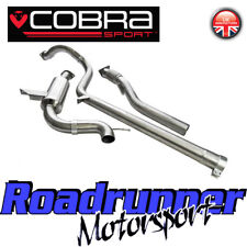 "Cobra Megane RS250 & RS265 Coupe exhaust CAT BACK SYSTÈME Inoxydable 3"" non res RN11"