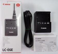 Canon LC-E6E Chargeur de Batterie pour Canon LP-E6, LP-E6N (3349B001)