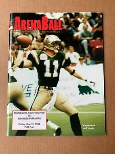 1996 Minnesota Fighting Pike Arena Football Game Program Vs. Anaheim Piranhas