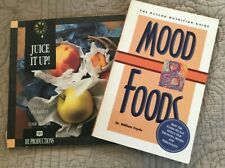 Lot of 2 nutrition Books  Mood Foods and Juice It Up Books Health Nutrition