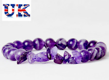 UK Ladies Amethyst Crystal Charm Crown Chakra Grade AAA Bracelet Wrap for Women