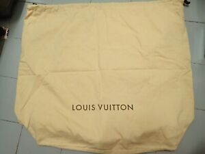 "AUTH LOUIS VUITTON Large Drawstring Dust Cover Bag (W 23"" X H19"" X D5.5"")"