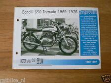 MVE05- BENELLI 650 TORNADO 1969-76 MINI POSTER AND INFO MOTORCYCLE,MOTORRAD,