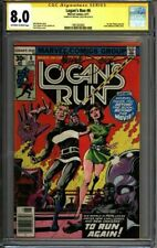 * LOGAN'S Run #6 CGC 8.0 Signed Mike Zeck 1st solo THANOS! (1961003005) *