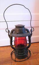Vintage Reading Railroad Dietz Vesta Kerosene Lantern Light Signal Red Globe