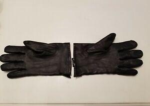 Pronto-Uomo leather gloves, black, Men's XL