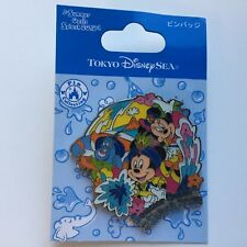 TDS Summer Oasis Splash 2012 Mickey Mouse, Minnie Mouse, Genie Disney Pin 91468