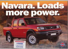 1998 NISSAN NAVARA Range Australian Brochure UTE SINGLE & DUAL CAB C/C 4x2 4x4