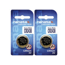 2 x Renata CR2430 Batteries, Lithium Battery 2430 | Shipped from USA