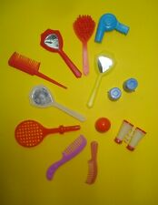 Vtg Barbie Superstar 80s Doll Beauty Accessory Lot Mirrors Brushes 13pc