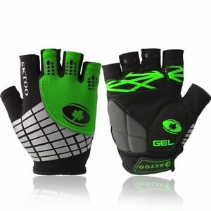 Cycling Gloves Reflective Half Finger Shockproof MTB Road Bike Glove Anti-slip