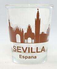 Seville (Sevilla) Spain Sunset Skyline Shot Glass