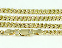 """8-24"""" 3.5mm 10k Yellow Gold Domed Link Chain, (NEW solid Italian necklace) 2433"""