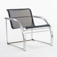 2011 Prototype Richard Schultz Mateo Collection Raw Aluminum & Mesh Dining Chair