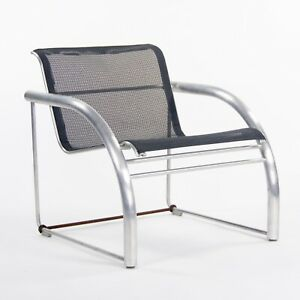 2011 Prototype Richard Schultz Mateo Collection Raw Aluminum & Mesh Lounge Chair