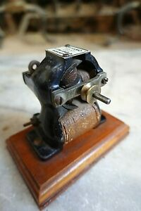 "Antique LE KNOTT ""DYNAMO 97-17 BI-POLAR ELECTRIC MOTOR 1890's Edison Fan"