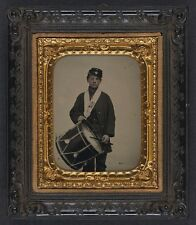 Photo Civil War Union Samuel Doble Drummer Boy Co D 12th Maine Infantry Regiment