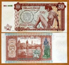 Bohemia, 50 Korun, Private Issue Essay, 2019, Limited Issue, Nude Allegory UNC