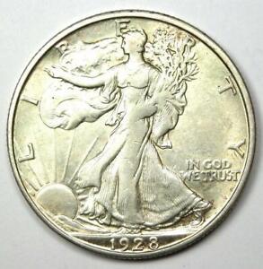 1928-S Walking Liberty Half Dollar 50C - AU Details - Rare Date Coin!