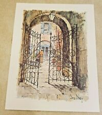 1967 Don Davey New Orleans The Wishing Gates Spanish Arms Courtyard Print
