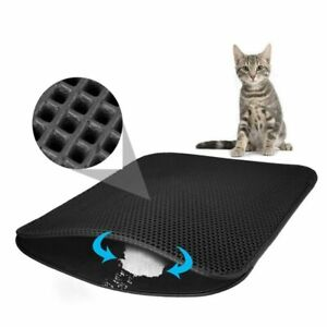 Pet Cat Litter Mat Double Layer Litter Cat Bed Pads Trapping Pets Litter Box