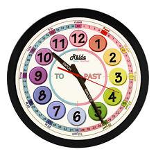 Relda time teacher teaching childrens kids clock Classroom Bedroom Gift rel127