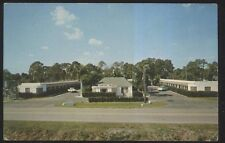 Postcard Ft Fort Myers Florida/Fl Tropical Palm Motel Motor Court view 1950's