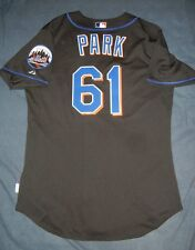 CHAN HO PARK GAME USED WORN Majestic NEW YORK METS Jersey 2007 MLB Korea Dodgers