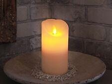 LED - Wachskerze Twinkle Flame weiß mit Echtwachs Timer