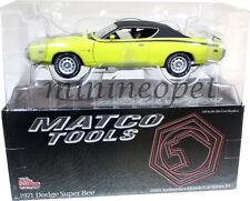 RACING CHAMPIONS MM2713 MATCO TOOLS AUTHENTICS 1971 DODGE SUPER BEE 1/18 YELLOW