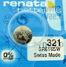 1 PCS Renata SR616SW 321 1.55V Silver Oxide Battery for Watch Swiss Made