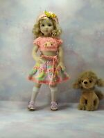 "OOAK OUTFIT FOR DOLLS 13"" Dianna Effner Little Darling ,Paola Reina, Betsy 14""."