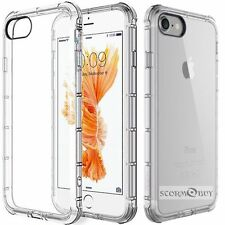 Clear TPU Silicone Cover Bumper Rubber Protective Case Fits Apple iPhone 8 / 7