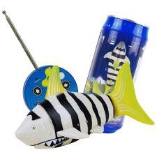 Remote Control Rc Micro Shark Robo Fish Mini Shark Aquarium Toy -Stripe-