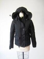 RaRe All Saints EXPEDITION Hooded Parka Anorak Coat Down Jacket Black UK12 US8