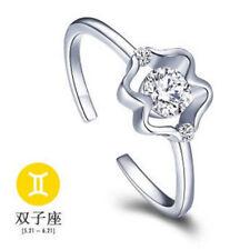 European Silver Luxury Rings Open Ring Fit Women Fashion Jewelry Gift Free Size