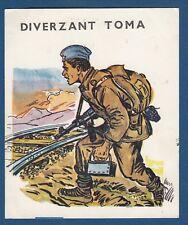 DIVERZANT TOMA ( saboteur) WWII - Yugoslav Partisans, illustration, vintage card