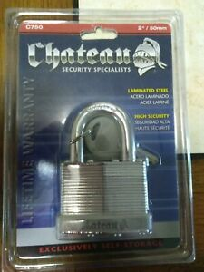 """Chateau Laminated 2"""" / 50mm Padlock C750 New In Package"""