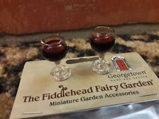 Fiddlehead Fairy Garden Miniature WINE Set Red Glasses Tiny Dollhouse Barbie NEW