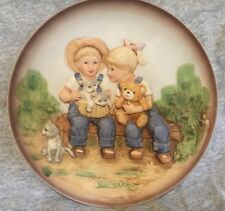 "Home Interiors Homco 1985 Denim Days Collectors 9"" Plate Vintage 1669C"