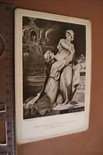 tolles altes Kabinettbild - Frau Hadwig und Ekkehard in der Kirche -