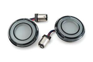 Kuryakyn Tracer Amber LED Front Turn Signal Conversion Kit 1157 Bullet Smoke Len