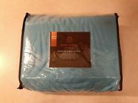 Extra Deep Pocket Sheets - Bamboo Blend 4-Piece 21 Bed Sheet Set (Twin, Teal)