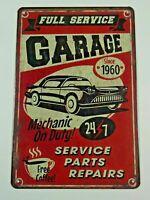 PA20F PLAQUE PUBLICITAIRE tolée age d'or Automobile : Full Service GARAGE