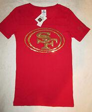 Victoria's Secret PINK Bling San Francisco 49ers Crew Neck Tshirt XS NWT