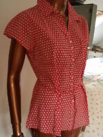 New Fab Fat Face Top Quality fine cotton summer sun cool blouse RRP was £35