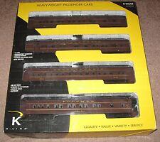 "K-Line K4880B Prr ""Brunswick Limited"" 15"" Heavyweight 4-pack"
