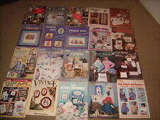 Cross Stitch Pattern Books Lot of 21 Paddington- Peter Rabbit- Looney Tunes ++++