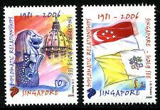 Singapore 2006 - Francobolli Emissione Congiunta Singapore Vaticano - nuovi **